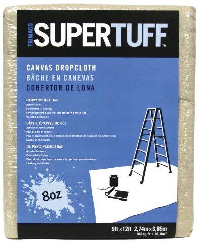 Trimaco 9-Feet by 12-Feet Canvas Drop Cloth 58901