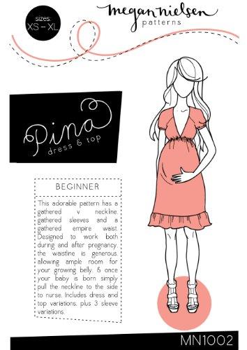 Megan Nielsen Pina Dress & Top Sewing Pattern XS-XL