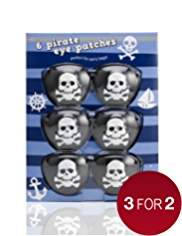 6 Pirate Eye Patches