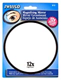 Swissco Suction Cup Mirror 12x Magnification, 5 inches