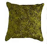 """That's Perfect! Concentric Flowers 16""""x16"""" Decorative Silk Throw Pillow Sham - COVER (Green)"""
