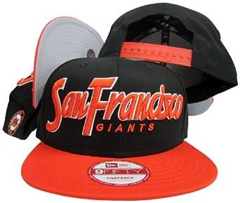 San Francisco Giants Snap It Back Black Orange Adjustable Snapback by New Era