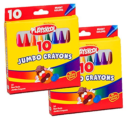 Playskool Jumbo Crayons 10 Count (2 Packs)