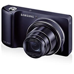 """Samsung Galaxy Camera with Android Jelly Bean v4.2 OS, 16.3MP CMOS with 21x Optical  Zoom and 4.8"""" Touch Screen LCD (WiFi - Cobalt Black)"""