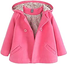 Little Girl Double-breasted Woolen Outfits Baby Jacket Coat