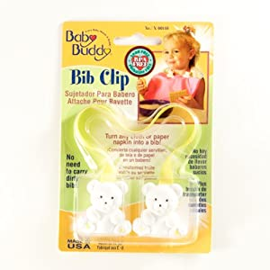 Baby Buddy Bib Clip Yellow (Pack Of 18)