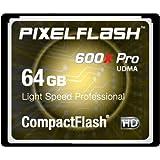 64GB PixelFlash 600x CF Compact Flash Memory Card Light Speed Professional Series ~ PixelFlash