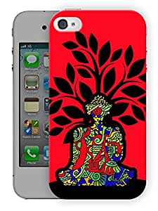 """Humor Gang Peace Tree Printed Designer Mobile Back Cover For """"Apple Iphone 4-4S"""" (3D, Matte, Premium Quality Snap On Case)"""