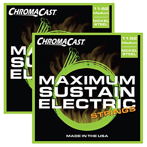 Chromacast Cc-Gs-Ms-M-2Pack Maximum Sustain Medium Electric Guitar Strings, .011-.052, 2-Pack