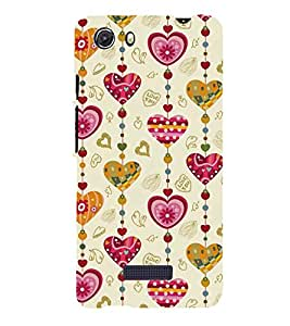 ASSORTED HEART SHAPED WIND CHYMES 3D Hard Polycarbonate Designer Back Case Cover for MIcromax Canvas Unite 3 Q372