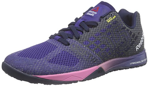 Reebok Crossfit Nano 5.0 Scarpe Sportive, donna, Blu (Blau (Night Beacon/Collegiate Navy/Icono Pink)), 38