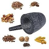 Songmics Mörser Mit Stößel aus massiv Granit poliert 13,5 x 13 cm Stein KGG007 -