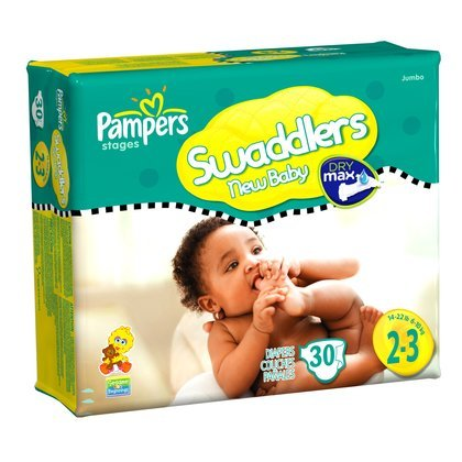Pampers Swaddlers, Size 2-3, 30-Count