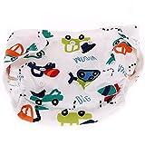 Bebé Pañales de tela reutilizables de bolsillo de dibujos animados diseño de pañales de tela lavable ajustable Niño suave Blue Car