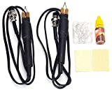 Dual Pen Professional Woodburning Detailer 60W Tool with Digital Temperature Control and 20 Tips