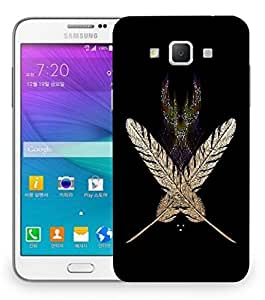 Snoogg White Feather Designer Protective Back Case Cover For Samsung Galaxy Grand Max G7200