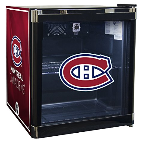 NHL Montreal Canadiens Refrigerated Beverage Cooler, 1.8 cu. ft., Black Graphic (Refrigerated Ice Chest compare prices)