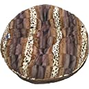 BESSIE AND BARNIE 36-Inch Bagel Bed for Pets, Medium, Godiva Brown/Wild Kingdom