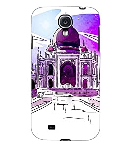 PrintDhaba Taj-Mahel D-2857 Back Case Cover for SAMSUNG GALAXY S4 (Multi-Coloured)