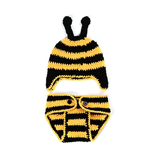 Liliany Newborn Baby Girls Boys Photography Props Cute Knitted Costume (Bumblebee) (Infant Bumble Bee Costume)