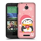 Head Case Designs Snowflake Mug Kawaii Christmas Penguins Protective Snap-on Hard Back Case Cover for HTC Desire 510