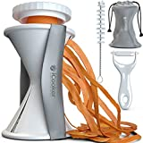 Vegetable Spiralizer Spiral Slicer + FREE Cleaning Brush, Vegetable Peeler and Spiralizer Recipe - Veggie Cutter Zucchini Pasta