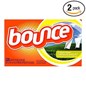Image: Bounce Fabric Softener Sheets, Outdoor Fresh Scent, 120-Count Box (Pack of 2) - Time-released fresh scent