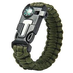 Futaba Survival Bracelet Flint Fire Starter Gear - Army Gear