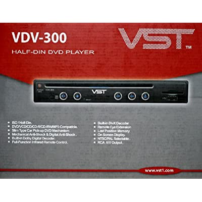 VST VDV300 HALF DIN In-Dash DVD/CD Player (VST VDV-300)