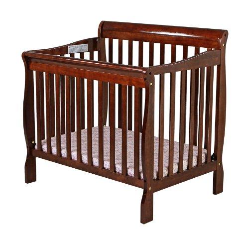 Dream On Me 4 In 1 Aden Convertible Mini Crib, Espresso front-915644