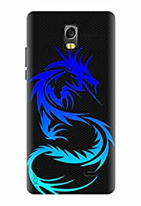 Noise Designer Printed Case / Cover for Lyf Water 10 / Patterns & Ethnic / Dragon Design