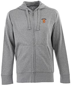 Syracuse Signature Full Zip Hooded Sweatshirt (Grey) by Antigua
