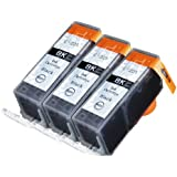 3 Pack Compatible Canon PGI-225 3 Big Black for use with Canon PIXMA iP4820, PIXMA iP4920, PIXMA iX6520, PIXMA MG5120, PIXMA MG5220, PIXMA MG5320, PIXMA MG6120, PIXMA MG6220, PIXMA MG8120, PIXMA MG8120B, PIXMA MG8220, PIXMA MX712, PIXMA MX882, PIXMA MX892. Ink Cartridges for inkjet printers. PGI-525BK © Zulu Inks