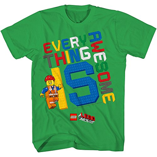 Lego Movie Little Boys Awesome T-Shirt 7 Kelly Green