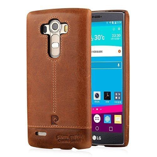 LG G4 Custodia telefonino, Pierre Cardin Custodia rigida con copertina nera sottile Premium Vintage di Lusso in autentica