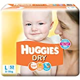 Huggies New Dry Large Size Diapers (52 Counts)