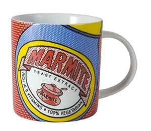 Marmite 1-Piece Porcelain RCA Mug Dotty Jar, Blue