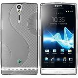 mumbi TPU Silikon Schutzhülle für Sony Xperia S transparent schwarz