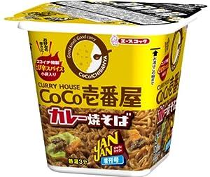エースコック JANJAN CoCo壱番屋監修カレー焼そば 105g×12個