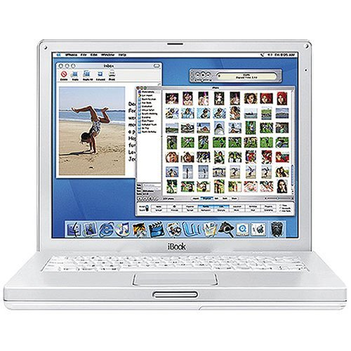 Apple iBook Laptop 12.1 M8758LL/A (800-MHz PowerPC G3, 128 MB RAM, 30 GB Hard Drive, CD-ROM Drive)