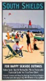 South Shields (old rail ad.) fridge magnet (se pt)