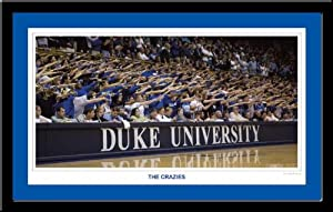Duke Basketball Poster The Crazies in Black Wood Frame by MyTeamPrints LLC