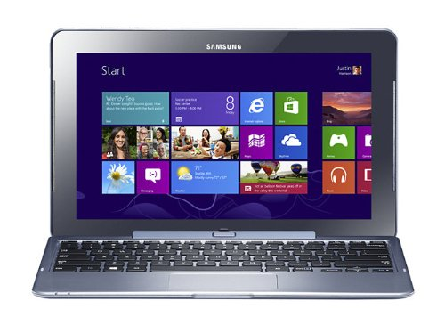 Samsung ativ smart pc pro 116 inch convertible laptop tablet blue intel atom z2760 18ghz processor 2gb ram 64gb ssd wlan 3g 2x camera integrated graphics windows 8