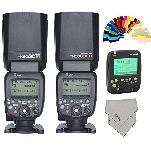 YONGNUO-YN024-YN600EX-RT-Wireless-Flash-Speedlite-2-Piece-Plus-YN-E3-RT-Radio-Transmitter-for-Canon-DSLR-Cameras