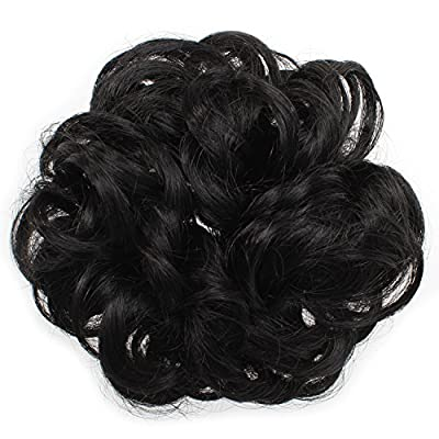 Onedor Ladies Synthetic Wavy Curly or Messy Dish Hair Bun Extension Hairpiece Scrunchie Chignon Tray Ponytail