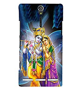 Radha Krishna Cute Fashion 3D Hard Polycarbonate Designer Back Case Cover for Sony Xperia SL :: Sony Xperia S :: Sony Xperia SL LT26I LT26ii