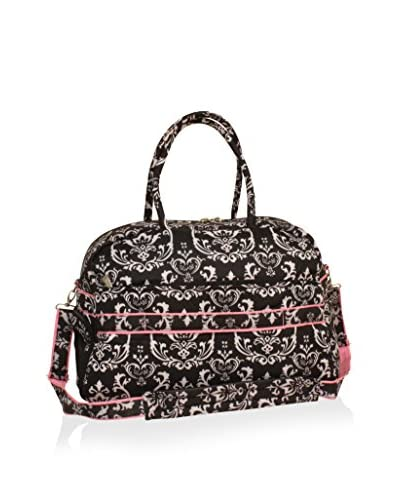 Jenni Chan Damask Soft Gym Duffel, Black/Pink
