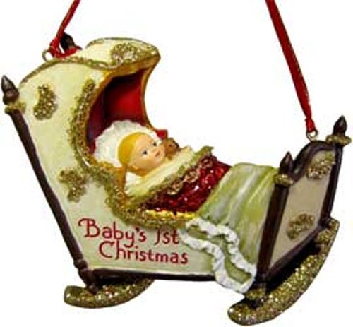 Kurt Adler Baby in a Cradle Ornament [T0044]