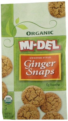 Mi-Del Organic Swedish Style Ginger Snaps, 8 Ounce Bags (Pack of 12) (Recipes Cra compare prices)