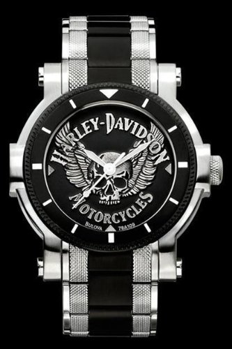 Harley-Davidson Men's Bulova Watch. 78A109